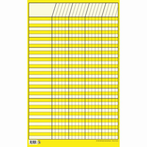 "YELLOW INCENTIVE CHART SMALL 14"" X 22"""