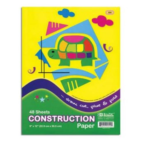 "CONSTRUCTION PAPER 9"" X 12"" 48 SHEET"