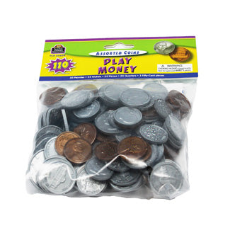 PLAY MONEY:ASSORTED COINS 110 PC