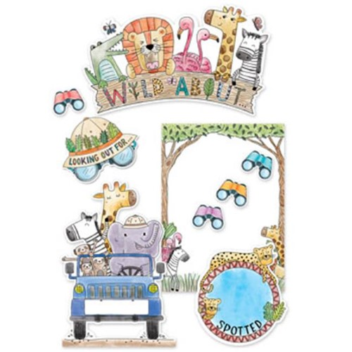 SAFARI FRIENDS WILD ABOUT BULLETIN BOARD 35 PC