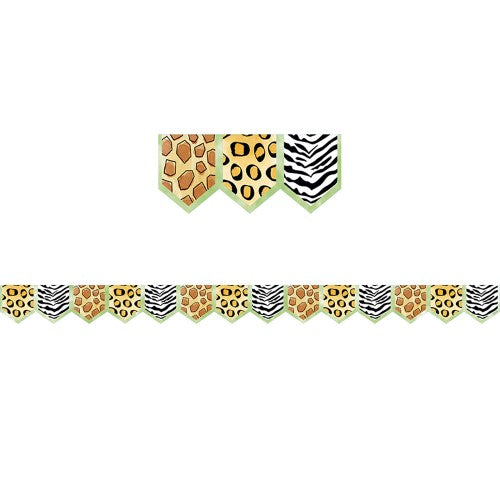 SAFARI FRIENDS SAFARI PRINTS BORDER