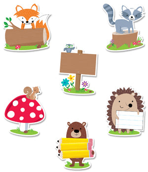 WOODLAND FRIENDS DESIGNER CUT-OUTS