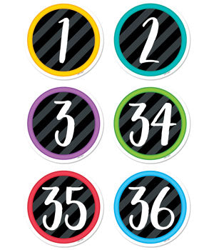 BOLD & BRIGHT STUDENT NUMBERS DESIGNER CUT-OUTS