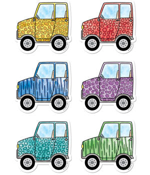 "SAFARI FRIENDS OFF-ROAD VEHICLES 6"" DESIGNER CUT-O"