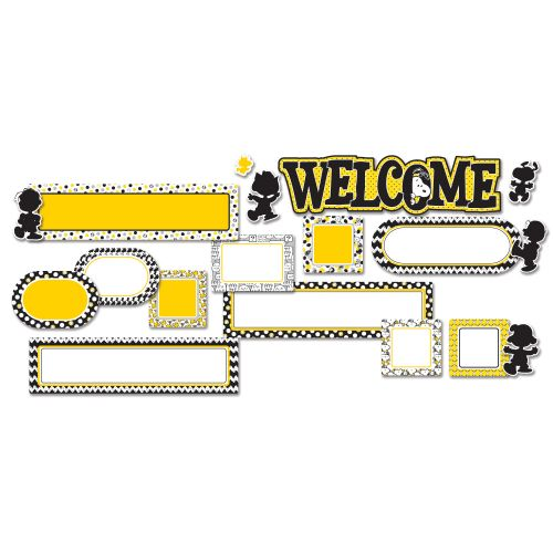 PEANUTS TOUCH OF CLASS WELCOME MINI BULLETIN BOAR