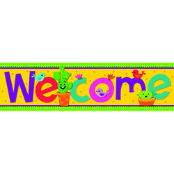 "A SHARP BUNCH WELCOME BANNER 45"" X 12"""