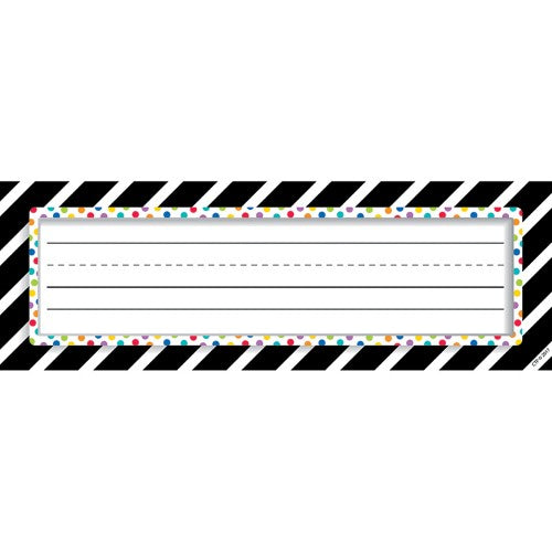 BOLD & BRIGHT BOLD STRIPES & DOTS NAME PLATES 36 P