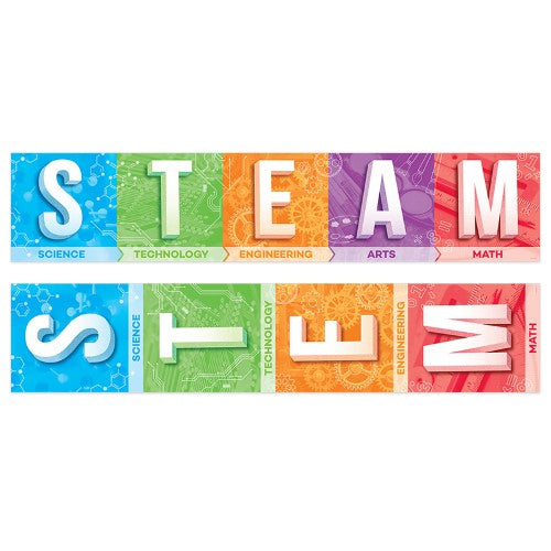 STEM AND STEAM BANNER 2 SIDE 3 FEET