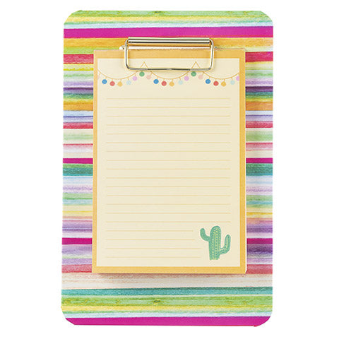 CLIPBOARD MEMO PADS STRIPES & CANVAS
