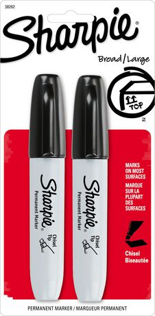 SHARPIE BROAD LARGE BLACK PQT.2