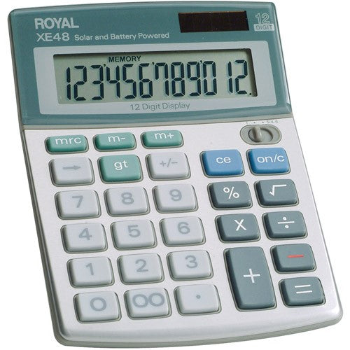 XE48 DESKTOP SOLAR CALCULATOR 12 DIGIT