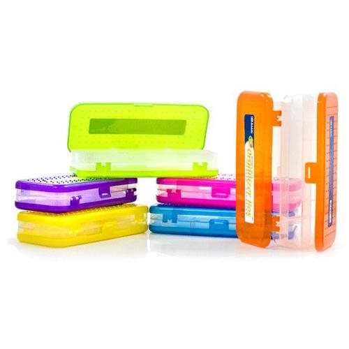 BRIGHT COLOR DOUBLE DECK ORGANIZER BOX 8""