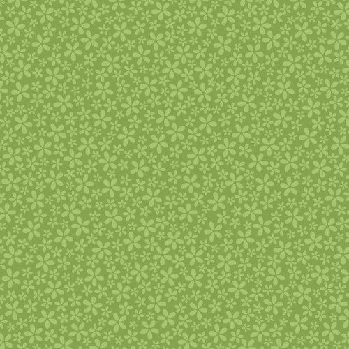 12X12 CARDSTOCK FLORAL GREEN
