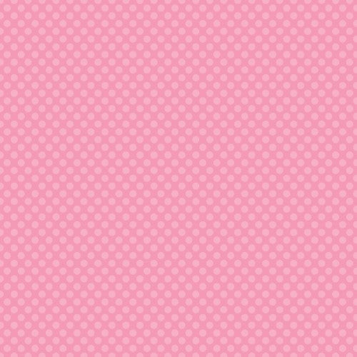 12X12 CARDSTOCK DOTS PINK
