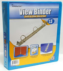 HARD VIEW BINDER CYAN 1-1/2""