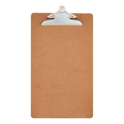 HARDBOARD CLIPBOARD WOOD BROWN LEGAL