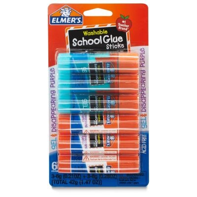 SCHOOL GLUE STICK MIXED