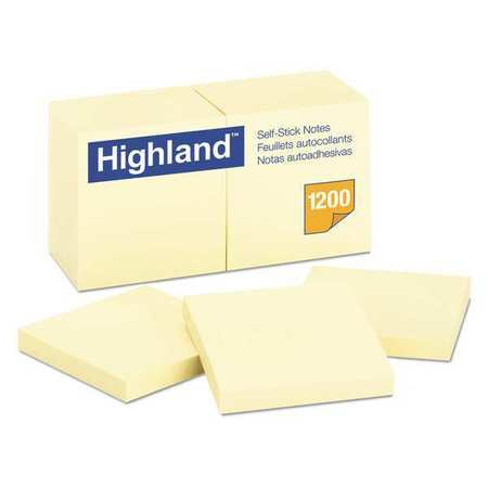 "HIGHLAND POST IT NOTE 3"" X 3"" YELLOW PQT.12"