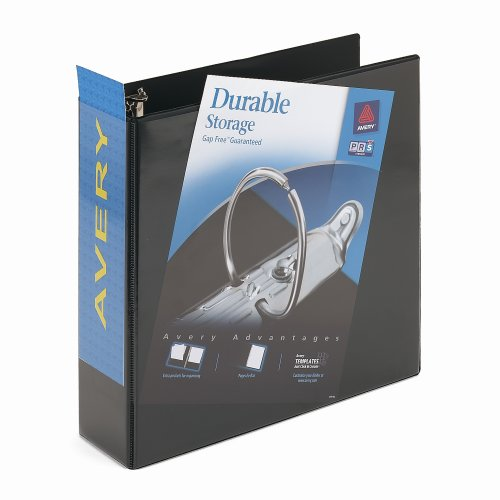 "DURABLE D-RING BINDER 4"" BLACK"