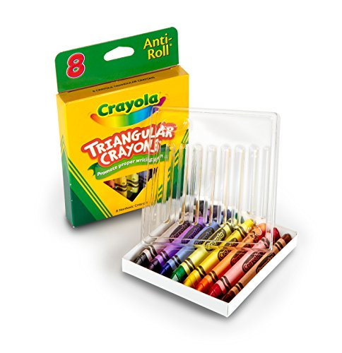 CRAYONS 8 TRIANGULARES ANTI-ROLL