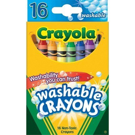 CRAYOLA WASHABLE ULTRA CLEAN CRAYONS PQ.16
