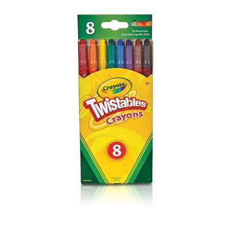 TWISTABLE CRAYONS 8 COLORS LARGO