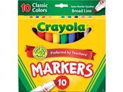 MARKERS BOLD 10-COLORS CLASSIC