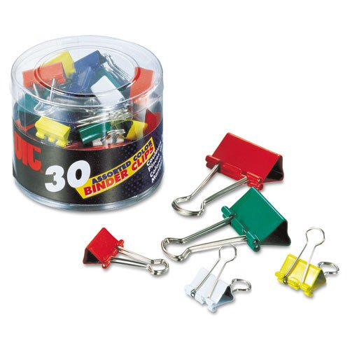 BINDER CLIPS ASSORTED SIZE AND COLORS PQ.30