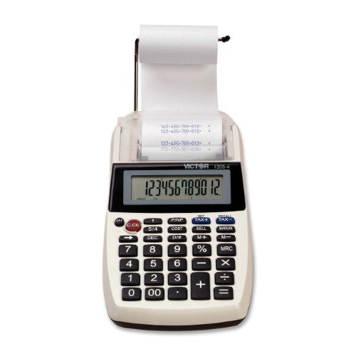 12 DIGIT PORTABLE PALM/DESKTOP PRINTING CALCULATOR