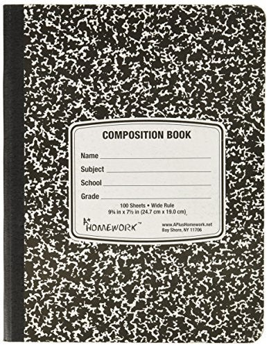 BLACK MARBLE PREMIUM QUALITY COMPOSITION BOOK