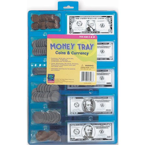 MONEY TRAY COINS AND BILLS