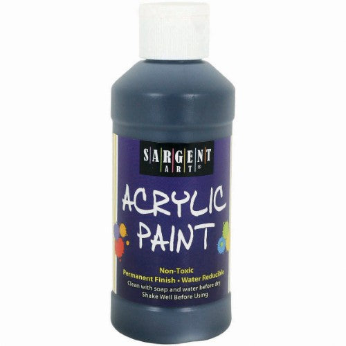 ACRYLIC PAINT BLACK 8 ONZ