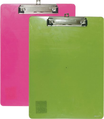 STANDARD SIZE PLASTIC CLIPBOARD ASSORTED COLORS
