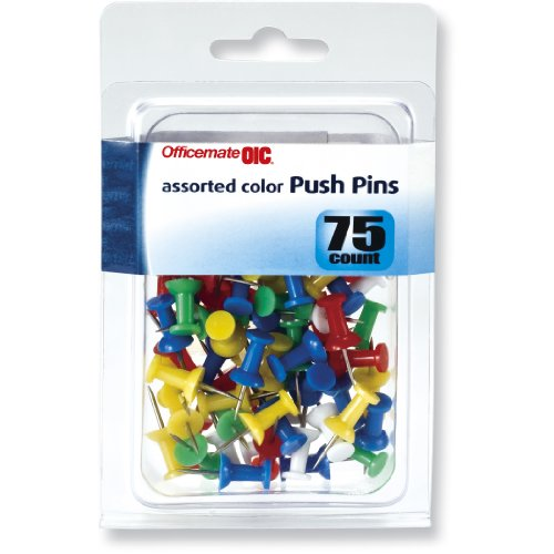 PUSH PINS ASST. COLORS