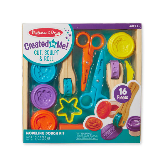 CUT, SCULPT & ROLL MODELING DOUGH KIT 16PCS