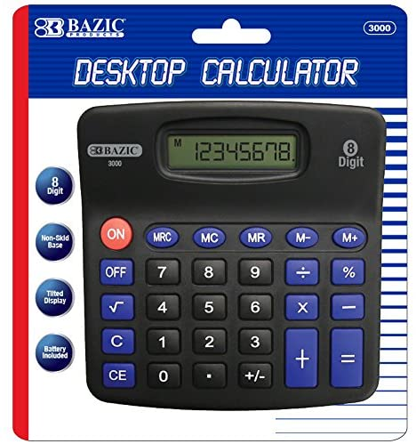 DESKTOP CALCULATOR 8 DIGIT BLACK