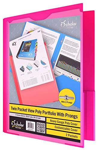 IQ TWIN POCKET VIEW POLY PORTFOLIO WITH PRONGS