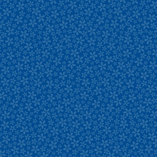 "PAPER DARK BLUE FLOWER 12"" X 12""CARDSTOCK"