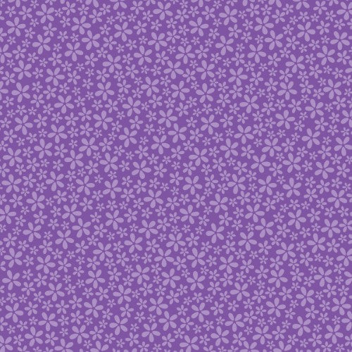 12X12 CARDSTOCK FLORAL PURPLE