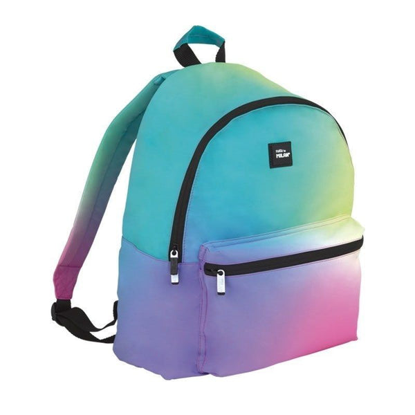 LARGE BACKPACK SUNSET PINK RAINBOW