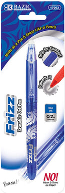 FRIZZ ERASABLE GEL PENS MEDIUM BLUE