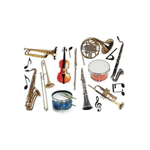 2-SIDED DECORATING MUSICAL INSTRUMENTS