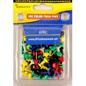 COLOR PUSH PINS 100PCS