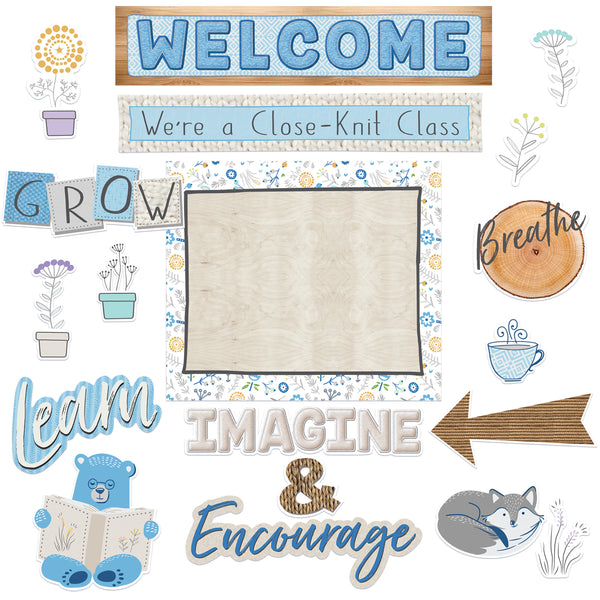 A CLOSE-KNIT CLASS WELCOME BULLETIN BOARD SET