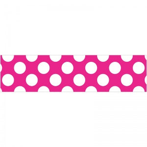 "HOT PINK WITH POLKA DOTS 3"" X 36"" BORDERS 12 PC"