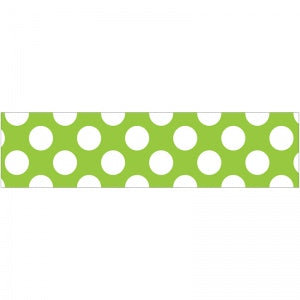 "LIME WITH POLKA DOTS 3"" X 36"" BORDERS 12 PC"