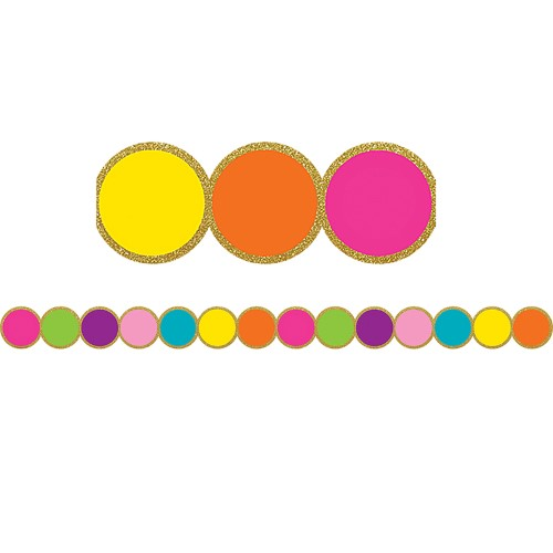 CONFETTI CIRCLES DIE-CUT BORDE 12 PC