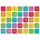 COLORFUL CALENDAR NUMBERS