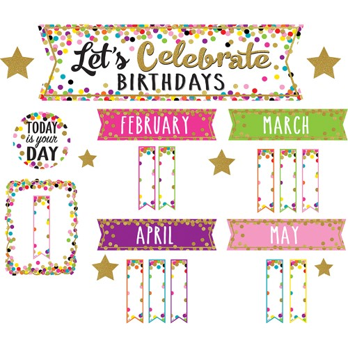 CONFETTI LETS CELEBRATE BIRTHDAYS MINI BULLETIN