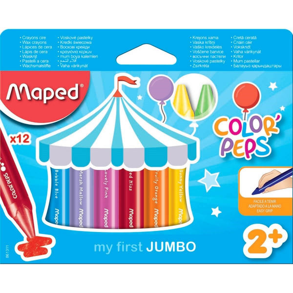 CRAYONS JUMBO TRIANGULAR ASSORTED COLOR PQ.12